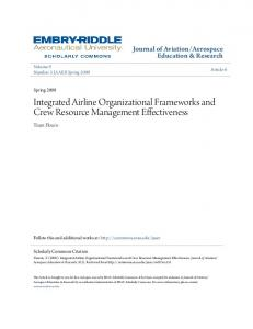 Integrated Airline Organizational Frameworks and Crew Resource Management Effectiveness
