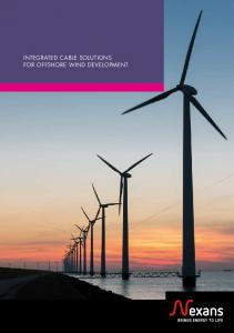 INTEGRATED CABLE SOLUTIONS FOR OFFSHORE WIND DEVELOPMENT
