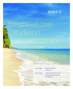 Integrated case studies in contemporary tourism management
