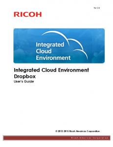 Integrated Cloud Environment Dropbox User s Guide