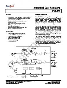 Integrated Dual-Axis Gyro IDG-300
