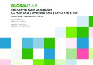 INTEGRATED FARM ASSURANCE ALL FARM BASE LIVESTOCK BASE CATTLE AND SHEEP