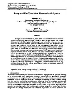 Integrated Flat Plate Solar Thermoelectric System