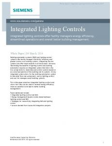 Integrated Lighting Controls