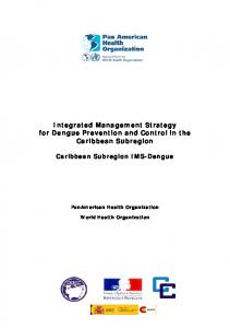 Integrated Management Strategy for Dengue Prevention and Control in the Caribbean Subregion