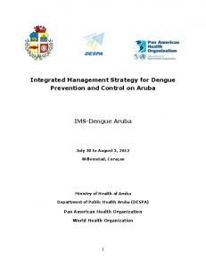 Integrated Management Strategy for Dengue Prevention and Control on Aruba