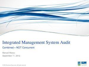 Integrated Management System Audit