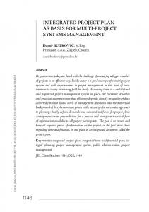 INTEGRATED PROJECT PLAN AS BASIS FOR MULTI-PROJECT SYSTEMS MANAGEMENT
