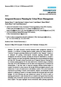 Integrated Resource Planning for Urban Waste Management