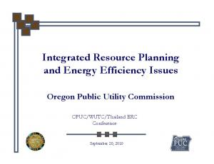 Integrated Resource Planning
