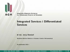 Integrated Services i Differentiated Services