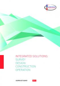 INTEGRATED SOLUTIONS: SURVEY DESIGN CONSTRUCTION OPERATION