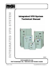 INTEGRATED VFD SYSTEM