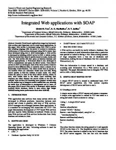 Integrated Web applications with SOAP
