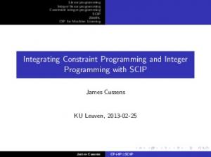 Integrating Constraint Programming and Integer Programming with SCIP