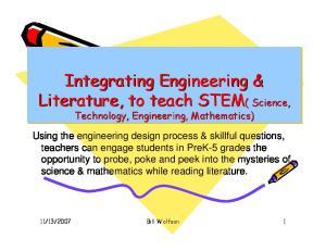 Integrating Engineering & Literature, to teach STEM( ( Science,