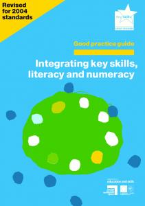 Integrating key skills, literacy and numeracy
