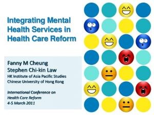 Integrating Mental Health Services in Health Care Reform