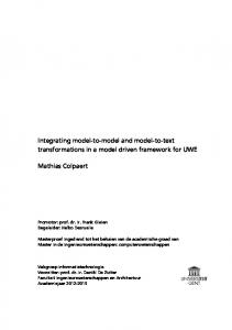 Integrating model-to-model and model-to-text transformations in a model driven framework for UWE