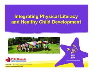 Integrating Physical Literacy and Healthy Child Development