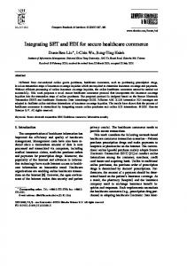 Integrating SET and EDI for secure healthcare commerce