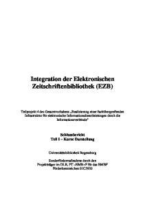 Integration der Elektronischen Zeitschriftenbibliothek (EZB)