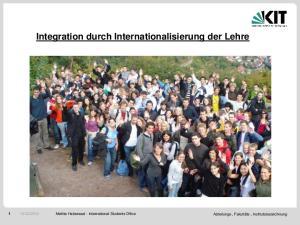 Integration durch Internationalisierung der Lehre