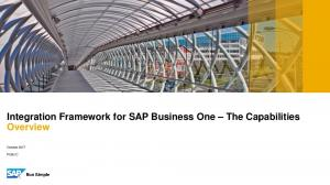 Integration Framework for SAP Business One The Capabilities Overview