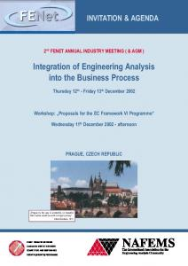 Integration of Engineering Analysis into the Business Process