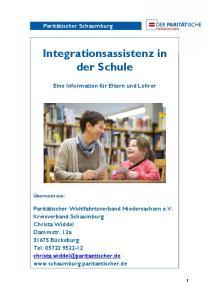 Integrationsassistenz in der Schule