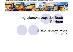 Integrationskonzept der Stadt Bochum