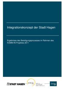 Integrationskonzept der Stadt Hagen