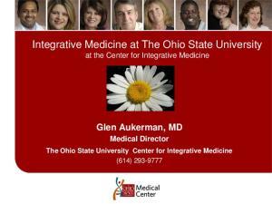 Integrative Medicine at The Ohio State University at the Center for Integrative Medicine