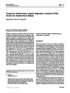 Integrative Multivariate Logistic Regression Analysis of Risk Factors for Kashin-Beck disease