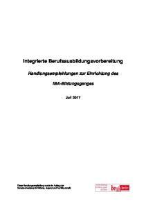 Integrierte Berufsausbildungsvorbereitung