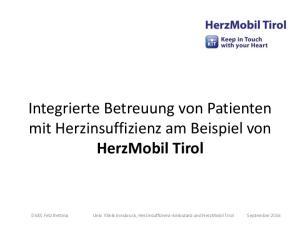 Integrierte Betreuung von Patienten mit Herzinsuffizienz am Beispiel von HerzMobil Tirol