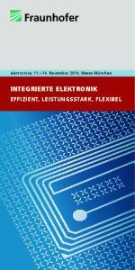 INTEGRIERTE ELEKTRONIK EFFIZIENT, LEISTUNGSSTARK, FLEXIBEL