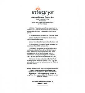 Integrys Energy Group, Inc