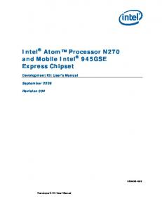 Intel Atom Processor N270 and Mobile Intel 945GSE Express Chipset