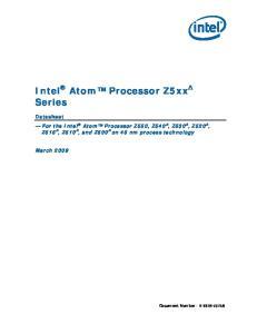 Intel Atom Processor Z5xx Series