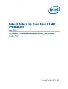 Intel Celeron Dual-Core T1x00 Processors