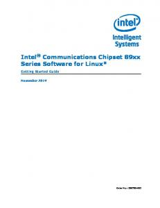 Intel Communications Chipset 89xx Series Software for Linux*