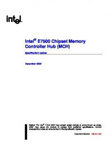 Intel E7500 Chipset Memory Controller Hub (MCH)