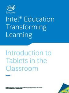 Intel Education Transforming Learning
