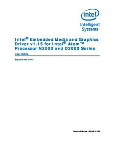 Intel Embedded Media and Graphics Driver v1.15 for Intel Atom Processor N2000 and D2000 Series