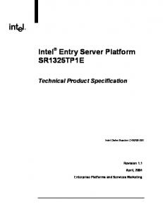 Intel Entry Server Platform SR1325TP1E