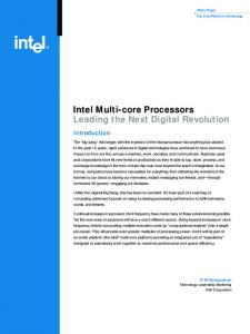 Intel Multi-core Processors Leading the Next Digital Revolution
