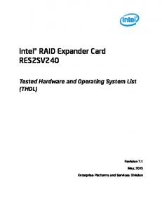 Intel RAID Expander Card RES2SV240