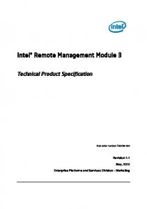 Intel Remote Management Module 3