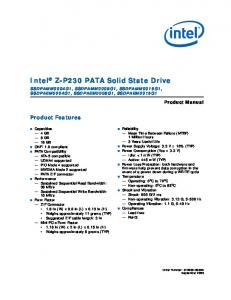 Intel Z-P230 PATA Solid State Drive